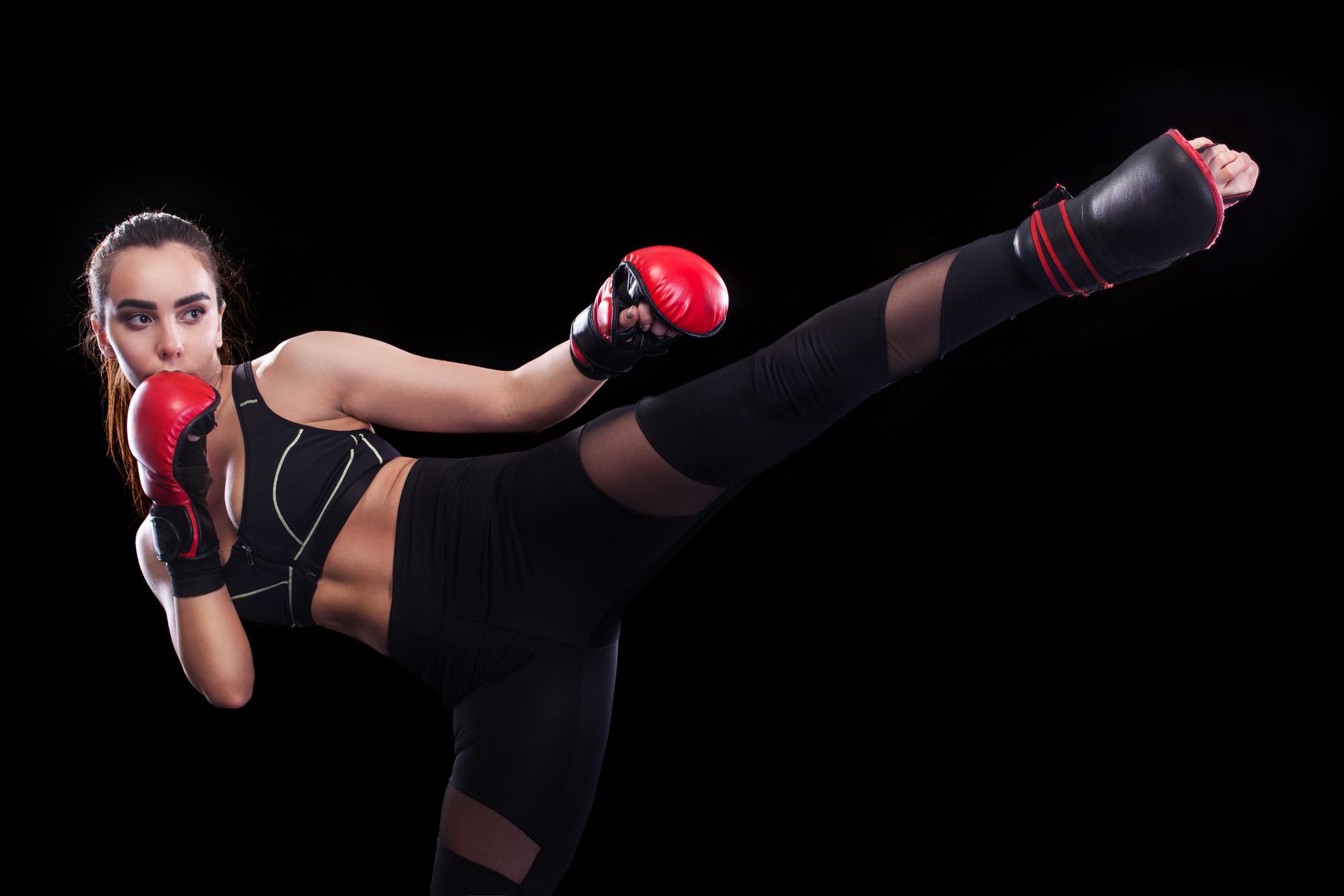Kickboxning med fokus på sparkar